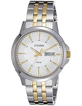 Citizen Herren-Armbanduhr Analog Quarz Edelstahl BF2018-52AE