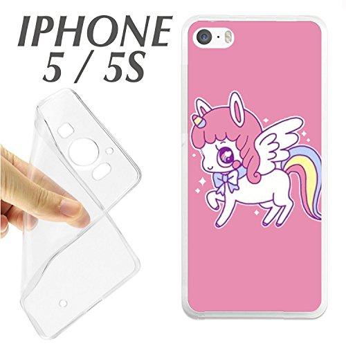 carcasaschulas CARCASA + Protector DE Cristal (OPCIONAL) iPhone 5 5S Pony PEQUEÑO Little ARCO IRIS Rainbow DIBUJO J350 - CARCASA+Protector