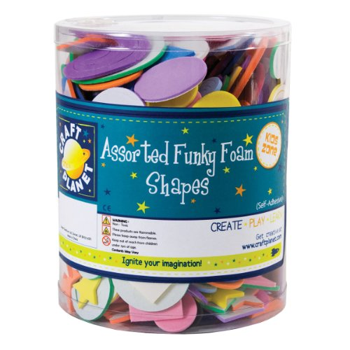 craft-planet-self-adhesive-funky-foam-shape-tub-assorted-colours