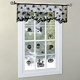 LAEMILIA Halloween Vorhang Spitze Fledermaus Spinnennetz Gothic Party Wand Fenster Kamin Abdeckung Deko - 3