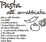 GRAZDesign Wandtattoo Küche günstig Rezept - Küchedeko Gemüse - Klebefolie Küche Sprüche - Wandtattoo Küche Pasta all arrabbiata / 43x40cm / braun / 620116_40_080