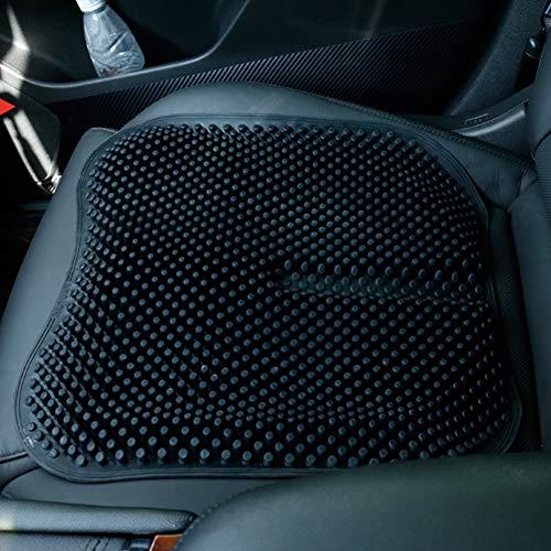 Stil-massage-stuhl (HXLF Atmungsaktive Tragbare Silikon Sitzkissen Stuhl Matte Massage Müdigkeit Schmerzlinderung for Auto Büro Sitzkissen Pad Auto zubehör (Color : Black))