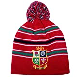 British & Irish Lions Rugby Acrylic Bobble Beanie Hat - 2016