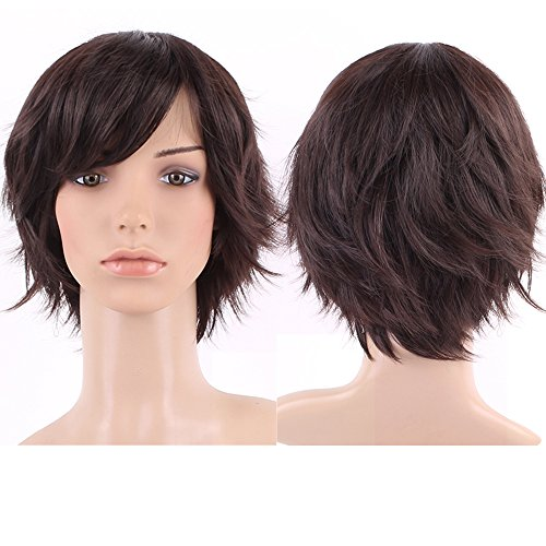 S-noilite Fashion Lady Short Full Head Wigs Cosplay Party Daily Fancy Dress Dark Brown by S-noilite (Womens Shorts Lange)