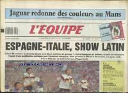 EQUIPE (L') [No 13095] du 14/06/1988 - JAGUAR REDONNE DES COULEURS AU MANS - FOOT - ESPAGNE - ITALIE - BOXE - TIOZZO- ANDREAS PROX - TENNIS - WINBLEDON - MACENROE.