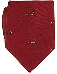 Samuel Windsor Men's Country Animal Wool Ties in Navy, Brown, Red, Burgundy and Green