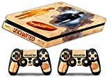 Skin Ps4 SLIM - UNCHARTED STORY - limited edition DECAL COVER Schutzhüllen Faceplates playstation 4 SONY BUNDLE