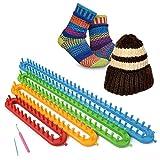 Soledì Kit Telai Plastica Aghi Uncinetto per Tessitura Lavoro a Maglia Cappelli Calze Scialli Sciarpa