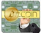 Tappetino per Mouse con Bordo di Chiusura, Tappetino per Mouse in Gomma per Banconote Bitcoin