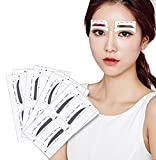 #9: FOK 12 Pair Eyebrow Card Eyebrow Shaping Stencil Sticker Grooming Kit Reusable Makeup Shaper Beauty Tool Eyebrow Sticker For Perfect Eyebrow