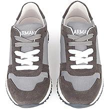 Armani Junior Sneakers in Pelle 405530 Tg 28 e706be2fdf6