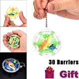 AMUSTER Moda 30 Barriere Mini Ball Maze Intelletto 3D Puzzle Toy Balance Barriera Magic Labyrinth Spherica
