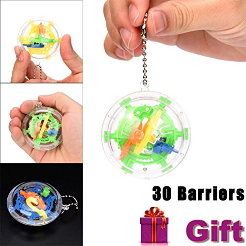 Juguete Del Bebé, Oyedens 30 Barreras de Laberinto 3D Magic Intelecto Ball Balance Laberinto Perplexus Puzzle Toy