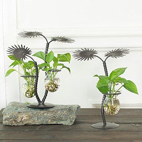 Stand De Fleurs Creative Floral Transparent Plante Verre Conteneur Hydroponique Vert Bureau Bureau Vase Décoration Salon Décorations (taille : A+B)