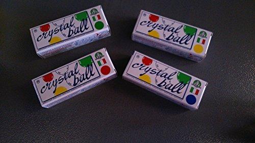 Crystal Ball - Le uniche, vere bolle di plastica , 4 CONFEZIONI 1 x COLORE ASSORTIMENTO COMPLETO