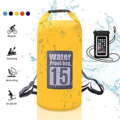YumSur Outdoor Dry Sack/Floating Waterproof Bag for Boating, Kayaking, Hiking, Snowboarding, Camping, Rafting, Fishing and Backpacking