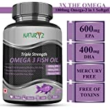 Naturyz Triple Strength Omega 3 Fish Oil 1400mg with 1000mg Omega 3 (600Mg EPA & 400Mg DHA) - 60 Softgels