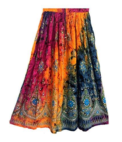 Señora de las mujeres coloridas Indian Boho Hippie Gypsy Sequin Veran