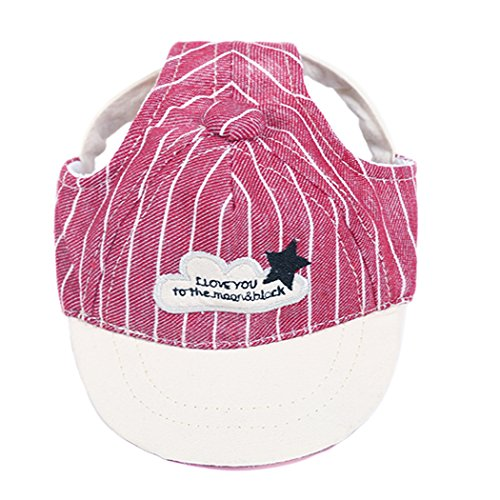 Baseball-hüte Deckel (Legendog Haustier Hut Mode Streifen Muster Hund Baseball Deckel Hund Deckel mit Ohr Löcher zum Klein Größe Hunde & Katzen)