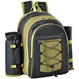 Confidence Picnic Backpack Hamper Inc Plates, Cutlery