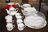 GURAL Porzellan Türkisch Traditionelles Frühstück Set/Tee-Set 22-teilig
