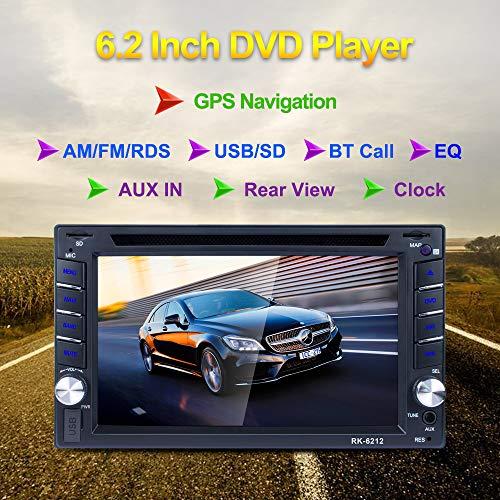 REAKOSOUND Doble din autoradio 6.2 pulgadas pantalla táctil de HD con GPS...