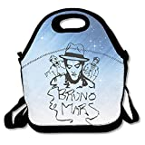 Bruno Mars Lunch Bag Lunch Tote, Waterproof Outdoor Travel Picnic Lunch Box Bag Tote With Zipper And Adjustable Crossbody Strap