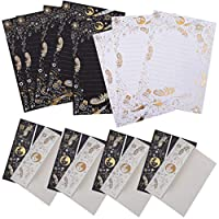 ‏‪Toyvian Flower Stationary Paper and Envelopes Set Retro Letter Paper Vintage Kraft Envelopes Handwritten Paper for Christmas Wedding Gift (Random Style)‬‏