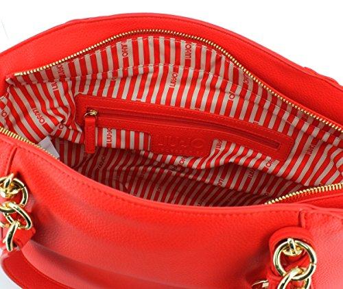 Liu Jo Niagara - Borse a spalla Donna, Nero, 26x14.5x35 cm (B x H T) Rosso