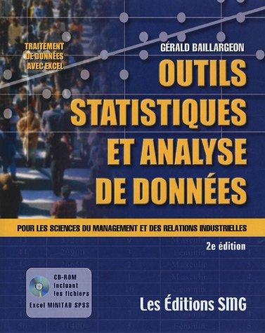 Outils statistiques et Analyse de données : Pour les sciences du management et des relations industrielles (1Cédérom) par Gérald Baillargeon