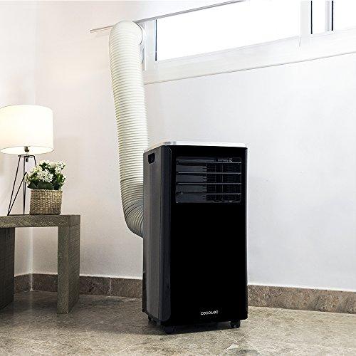 Cecotec Aire Acondicionado frío Calor portátil ForceSilence Clima 9250 SmartHeating. Potente 4 en 1,  Ultrasilencioso,  9000 BTU,  350 m³/h,  Pantalla Digital,  Temporizador 24 Horas,  Mando a Distancia