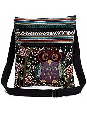 Kafe Damen Taschen Loveso Mädchen Frauen Owl Bestickte Taschen Umhängetasche Handtaschen