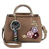 Limotai Handbag Blumenschalen-Damenhandtasche Pu-Handtasche Kleine Dame Handtasche Damen Umhängetasche Haupttasche