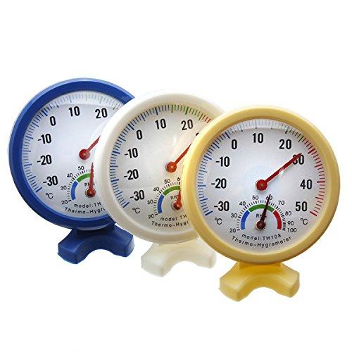 Preisvergleich Produktbild EsportsMJJ Indoor Outdoor Wet Hygrometer Feuchte Thermometer Temperatur Meter-Gelb