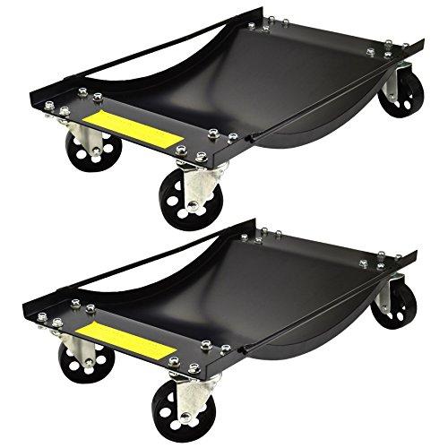 Preisvergleich Produktbild Paar Wheel Dollies Skate Auto Van Positionierung Transportwagen 450kg Recovery Jack TE429