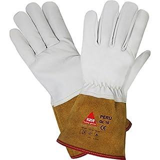 Hase Safety Leichter Schweißerhandschuh Peru EN388 EN420 EN407 - Arbeitshandschuh für Schweißarbeiten, Größe: 9 (L)