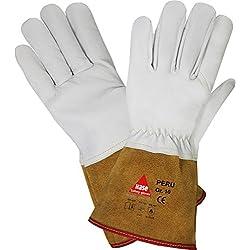 Légers Gants de Soudeur Hase Safety Peru EN388 EN420 EN407 - Gants de Travail pour les Travaux de Soudage, Taille : L