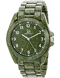 amazon co uk green wrist watches men watches joshua sons men s js91gn green porcelain coated marble design quartz watch green dial and green bracelet