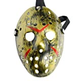 Dream Loom Jason Maschera, Costume di Halloween Cosplay Party Mask Prop, Mascherata Maschera per adulti (Oro)