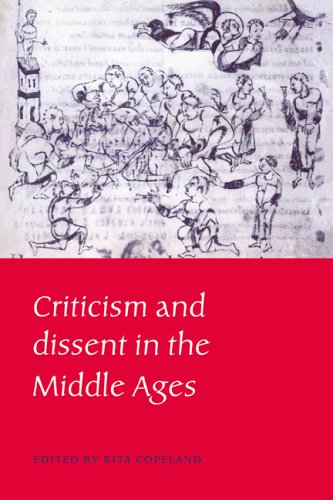 Price comparison product image Criticism and Dissent in the Middle Ages