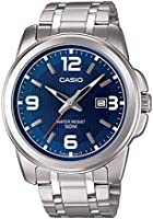 Casio Watch For Men Analogue Quartz with Stainless Steel Bracelet