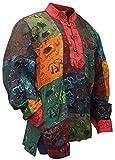 Shoppoholische Mode Herren Sommer Bunt Opa Hippie Shirt Gr. XXL, Multi