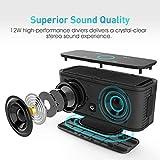 DOSS SoundBox- Touch Kabellose Portabler Bluetooth Lautsprecher mit unglaublicher 12-Stunden Spielzeit & Sensitive-Touch Wireless 12W Speakers mit TF Karte Funktion und Reinem Bass - 2