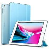 ESR iPad Air Hülle, Auto aufwachen/Schlaf Funktion Wickelfalz Ledertasche mit Lichtdurchlässig Rückseite Abdeckung Leichtgewicht Schutzhülle für iPad Air/iPad 5 (Himmel Blau)