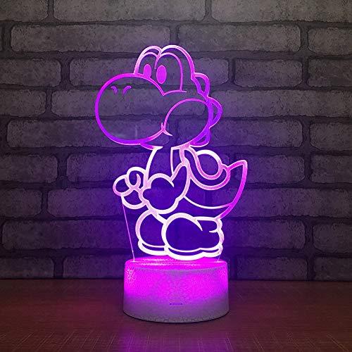 Mario 3D Led USB Lampe Cartoon Spiel Figur Super Acryl Neuheit Weihnachten Beleuchtung Geschenk RGB Touch Fernbedienung Spielzeug,7colortouch