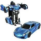 Roboter Verformbarer Ferngesteuerter Spielzeugauto/Modellauto/Sprachgesteuerte Verformung + Fernsteuerungsverformung, 360 Grad Rotationsdrift und Bunte Lichter
