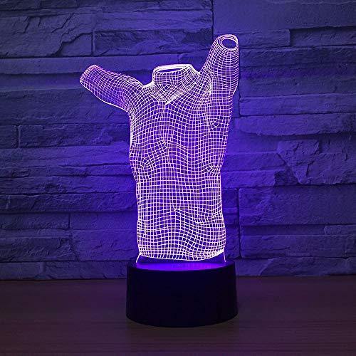 Modelo de Forma del Cuerpo humano acrílico luz nocturna Color lámpara táctil lámpara de mesa juguete creativo decoración de arte