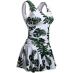 Summer Mae para mujer tallas grandes una sola pieza, hojas