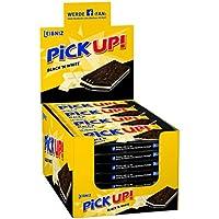 Leibniz PiCK UP! Black´n White 24 x 28 g-knackige weiße Schokolade, knuspriger dunkler Keks-lecker für zwischendurch-Schokoriegel für die ganze Familie-einzeln verpackt-Großpackung-praktisch-Riegel