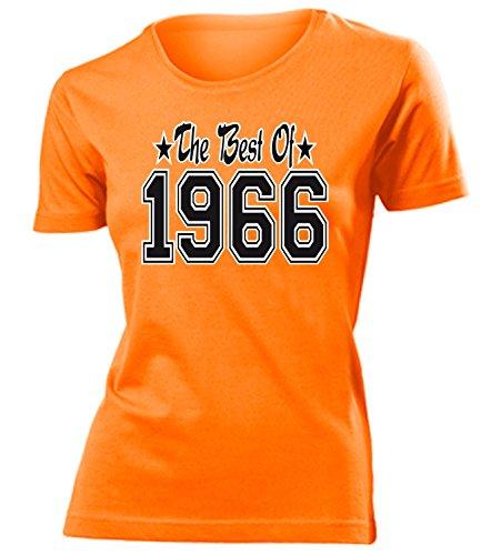 THE BEST OF 1966 - DELUXE - Birthday Donna Maglietta Taglia S to XXL vari colori Arancione